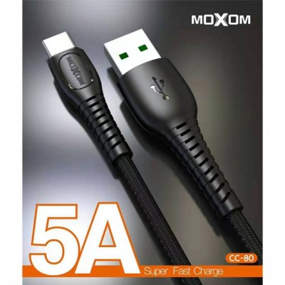 MOXOM CC-80 / 5.0A Super Fast Charging Type C USB Data Cable