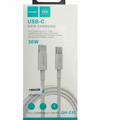 Qihang QH-C41 cable 1.5M 30 W Fast Charging Type C To Type C