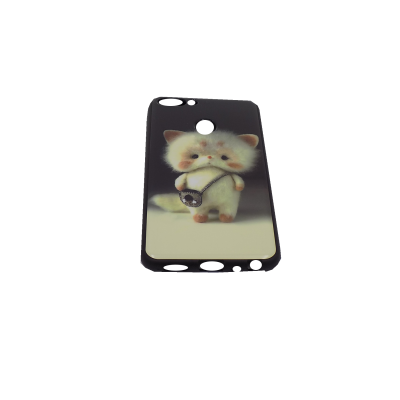 Ηuawei P Smart Hard Silicone Case With Design (Cat)