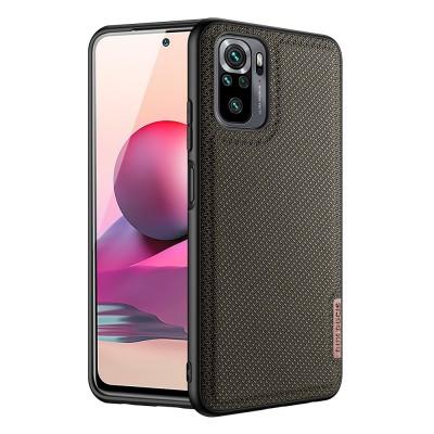 Dux Ducis Fino case covered with nylon material for Xiaomi Redmi Note 10 / Redmi Note 10S green