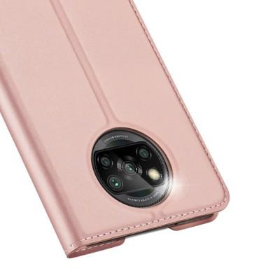 DUX DUCIS Skin Pro Bookcase type case for Xiaomi Poco X3 NFC / Poco X3 Pro Pink