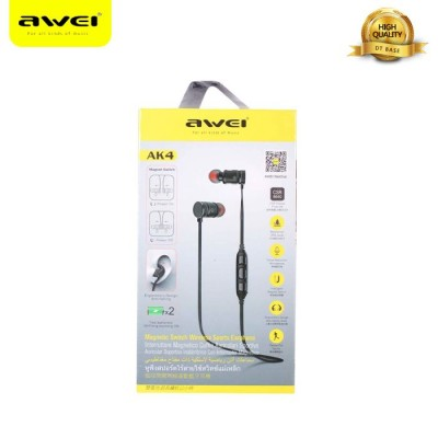Awei AK4 Magnetic Switch Wireless Sports Earphone for all kinds of music