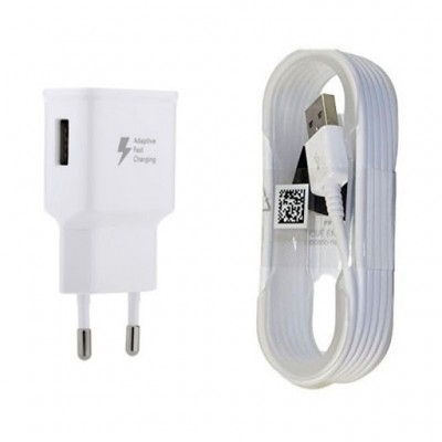 Samsung micro USB Cable & Wall Adapter white Quick Fast Charging 15W